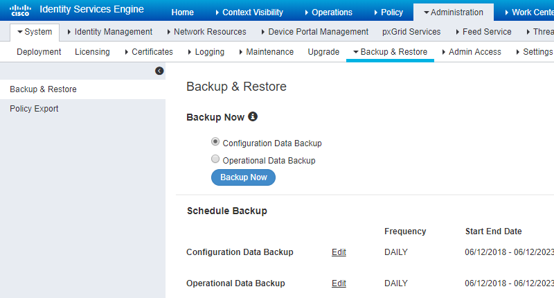 How to Backup Cisco ISE 2 4 | NetworkProGuide